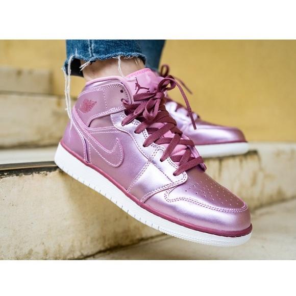 New Nike Air Jordan Mid Metallic Pink